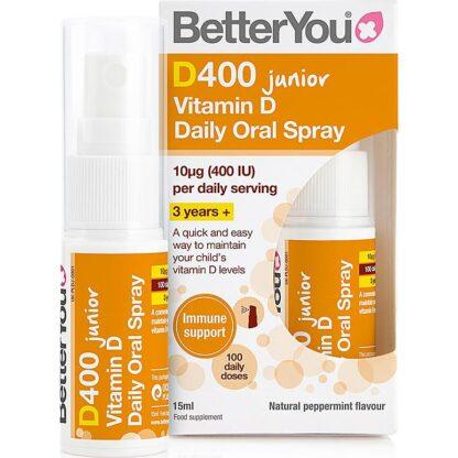 D400 Junior Vitamina D spray oral BetterYou