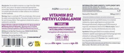 Vitamina B12 Metilcobalamină HSN Essentials